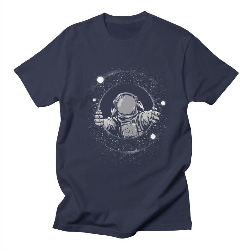Black Hole Men's Regular T-Shirt by digital carbine