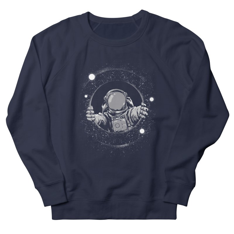 Black Hole Men's French Terry Sweatshirt by digital carbine