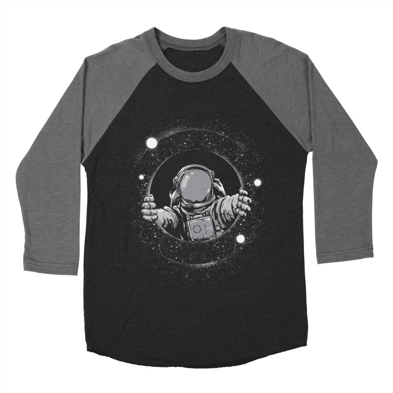 Black Hole Men's Baseball Triblend Longsleeve T-Shirt by digital carbine