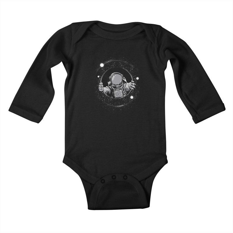 Black Hole Kids Baby Longsleeve Bodysuit by digital carbine