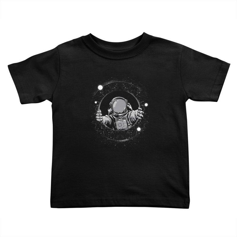 Black Hole Kids Toddler T-Shirt by digital carbine