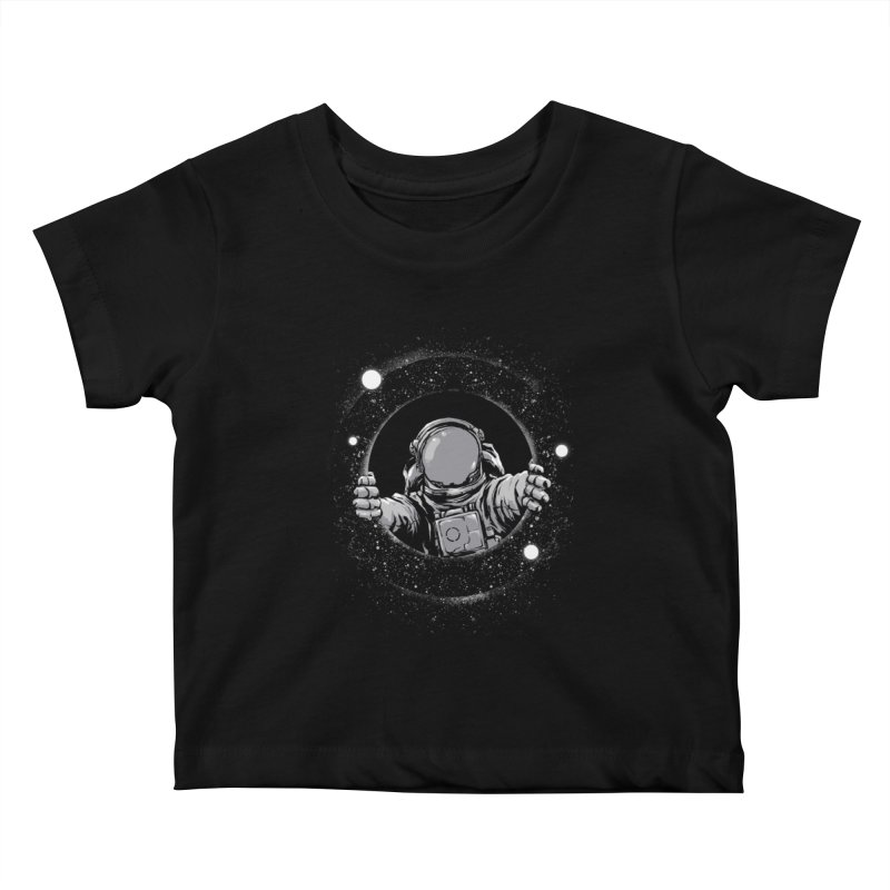 Black Hole Kids Baby T-Shirt by digital carbine