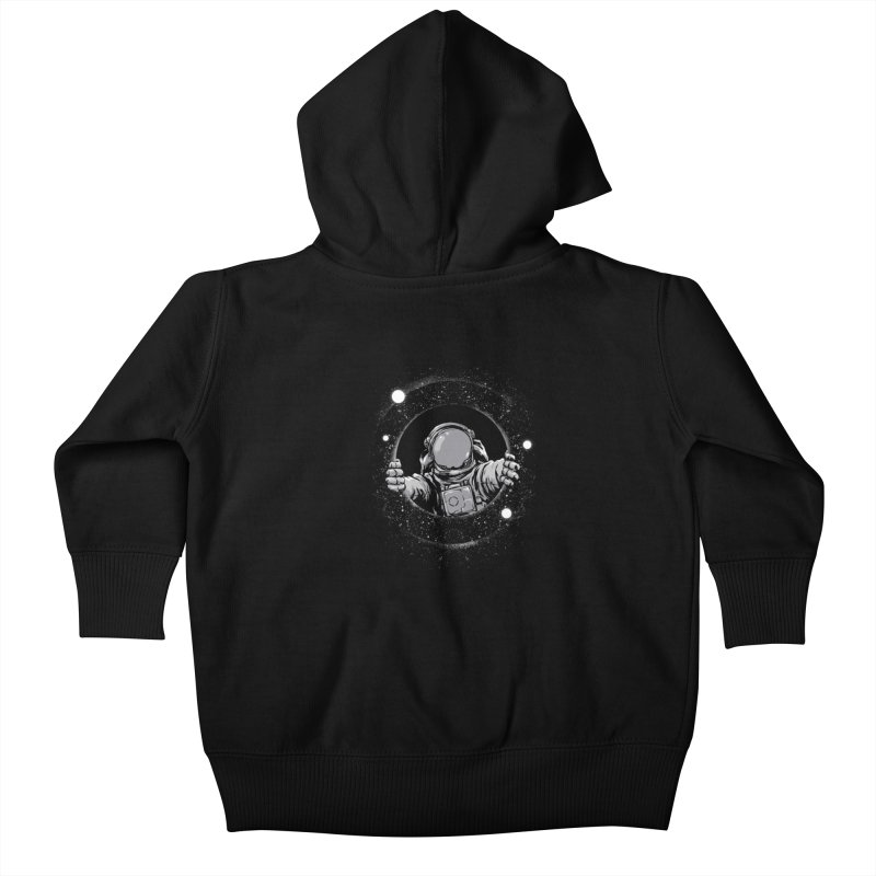 Black Hole Kids Baby Zip-Up Hoody by digital carbine
