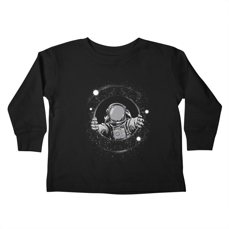 Black Hole Kids Toddler Longsleeve T-Shirt by digital carbine