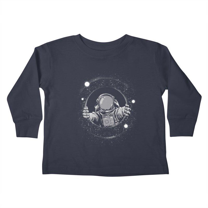 Black Hole Kids Toddler Longsleeve T-Shirt by digital carbine