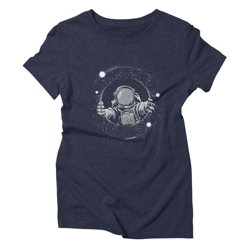 Black Hole Women's Triblend T-Shirt by digital carbine