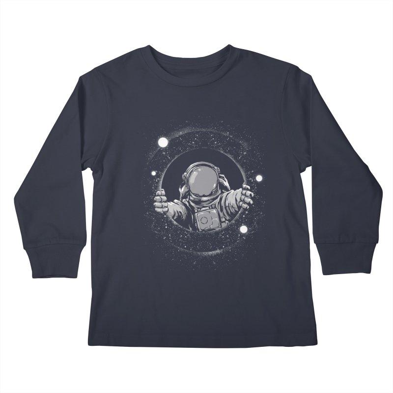 Black Hole Kids Longsleeve T-Shirt by digital carbine