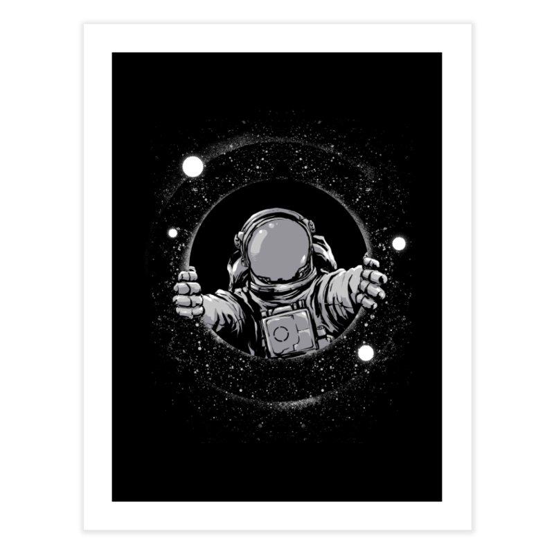 Black Hole Home Fine Art Print by digital carbine