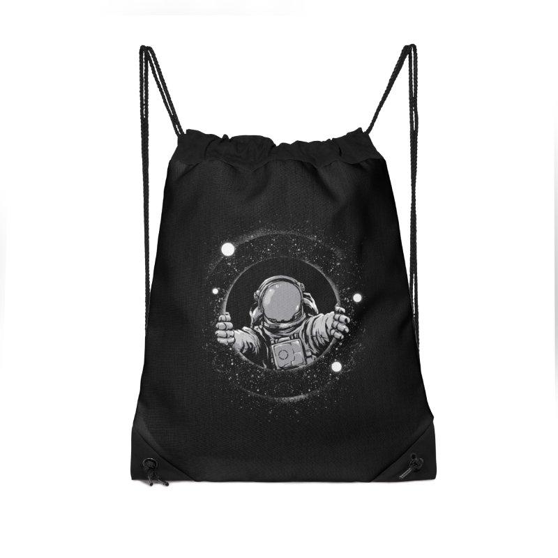 Black Hole Accessories Drawstring Bag Bag by digital carbine