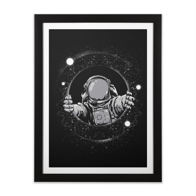 Black Hole Home Framed Fine Art Print by digital carbine