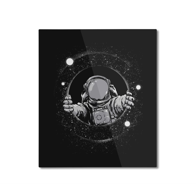 Black Hole Home Mounted Aluminum Print by digital carbine