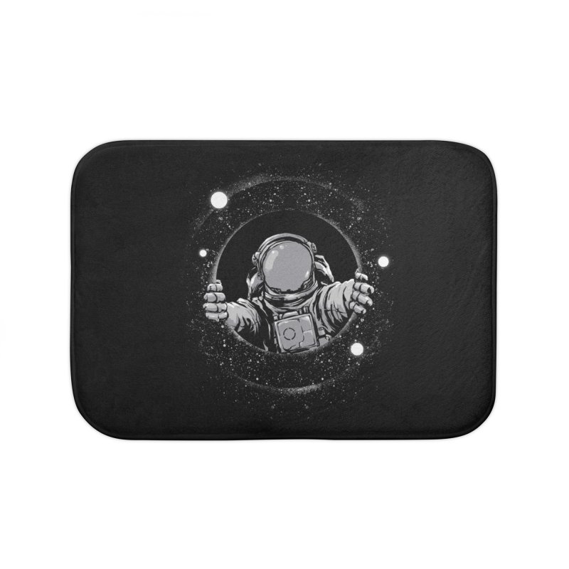 Black Hole Home Bath Mat by digital carbine