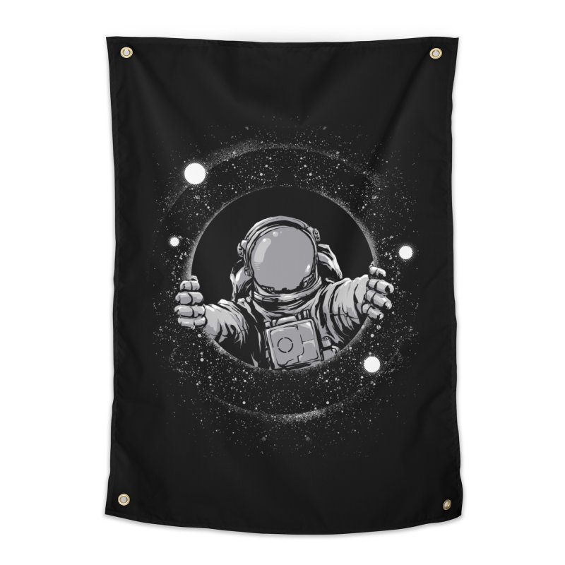 Black Hole Home Tapestry by digital carbine
