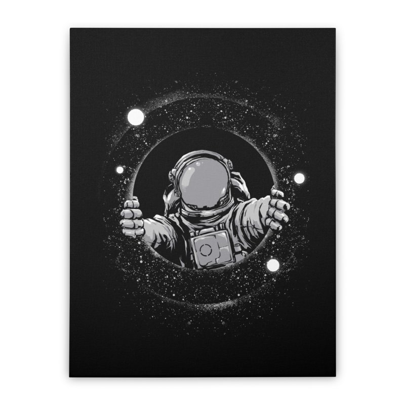 Black Hole Home Stretched Canvas by digital carbine