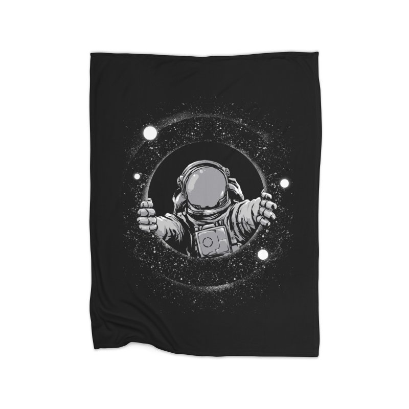 Black Hole Home Fleece Blanket Blanket by digital carbine