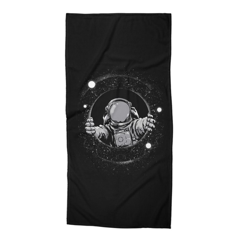 Black Hole Accessories Beach Towel by digital carbine