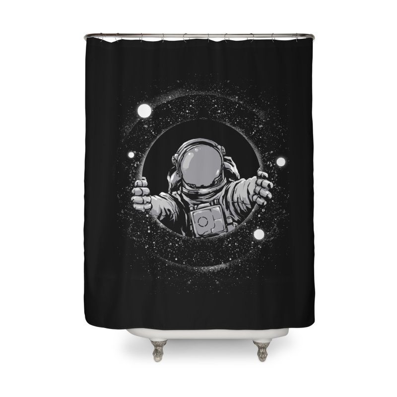 Black Hole Home Shower Curtain by digital carbine