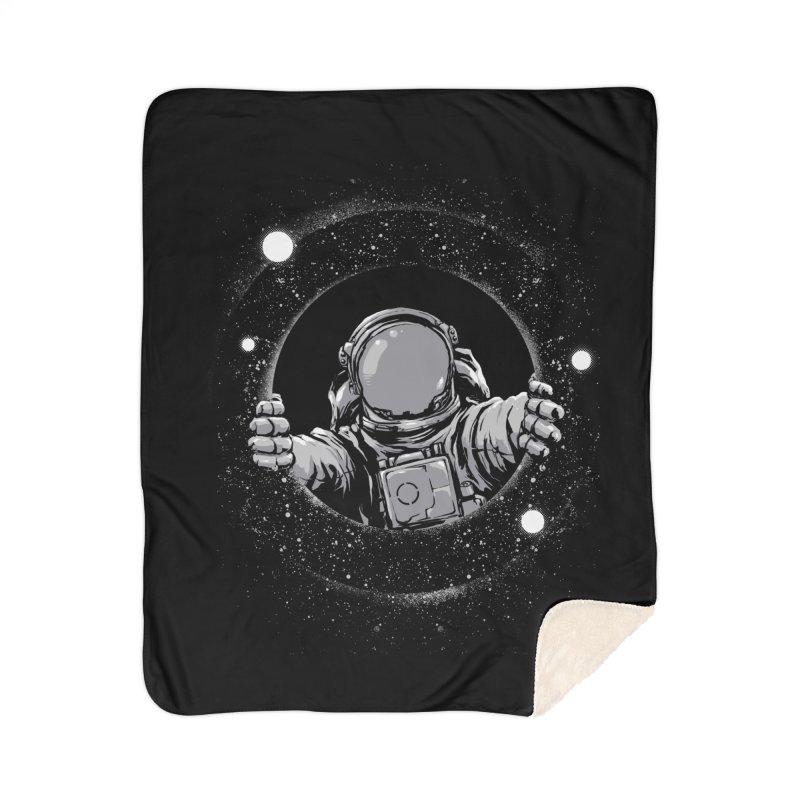 Black Hole Home Blanket by digital carbine