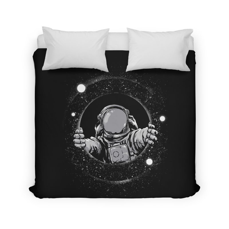 Black Hole Home Duvet by digital carbine
