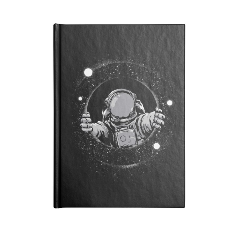 Black Hole Accessories Blank Journal Notebook by digital carbine