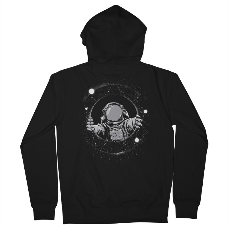 Black Hole Men's Zip-Up Hoody by digital carbine