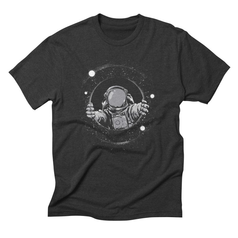 Black Hole Men's Triblend T-Shirt by digital carbine