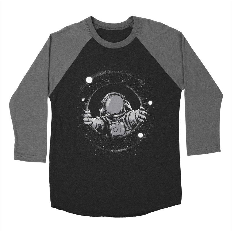 Black Hole Men's Baseball Triblend T-Shirt by digitalcarbine