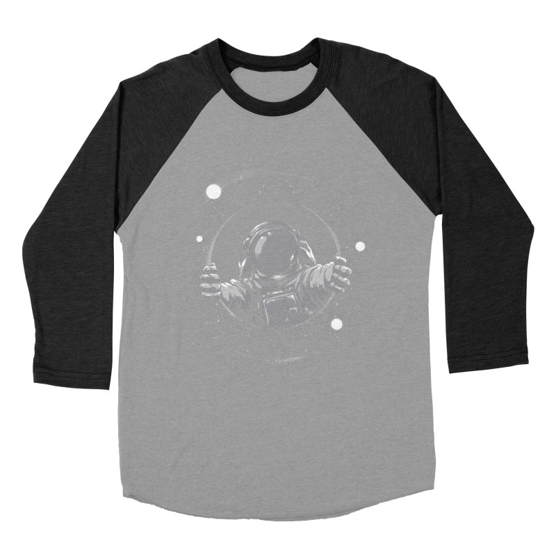 Black Hole Men's Baseball Triblend T-Shirt by digitalcarbine