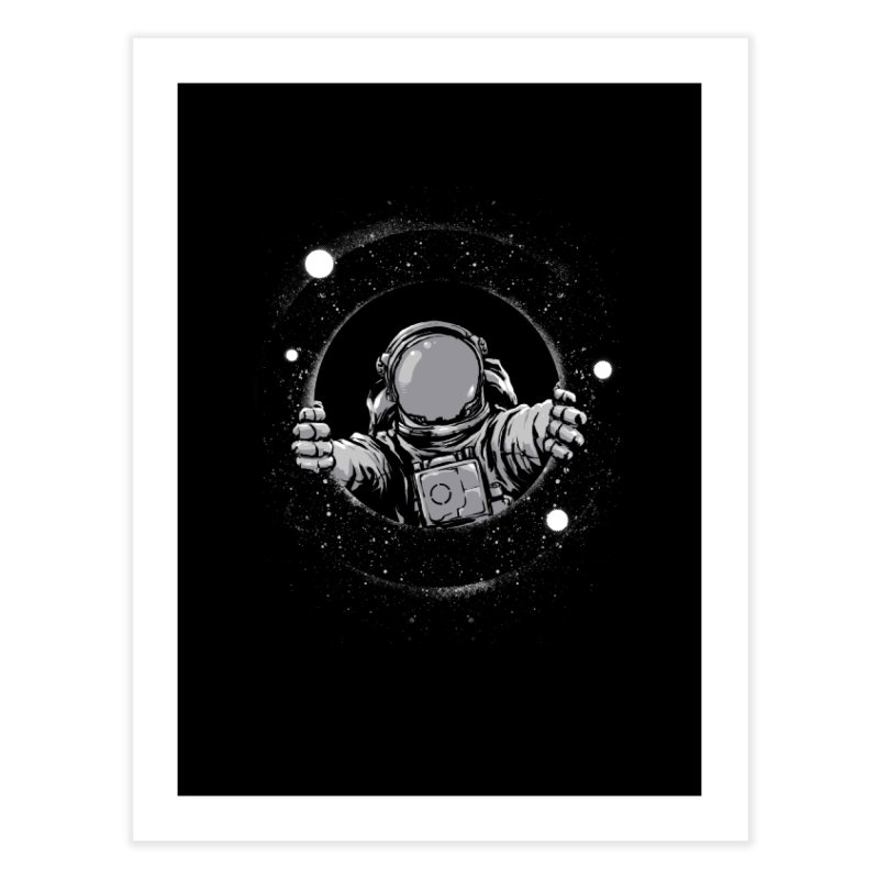 Black Hole Home Fine Art Print by digital carbine