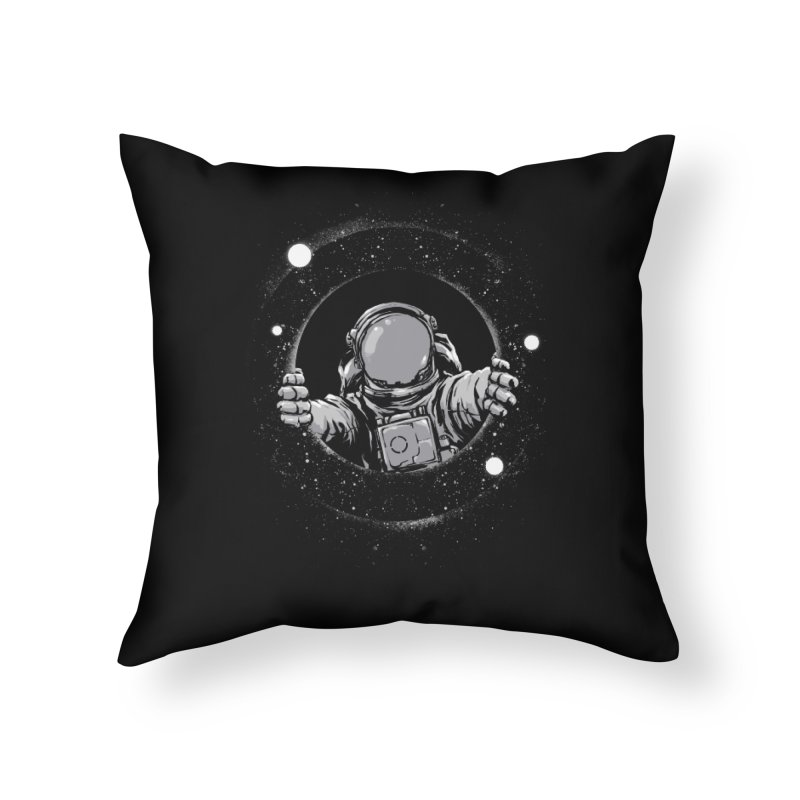Black Hole Home Throw Pillow by digital carbine