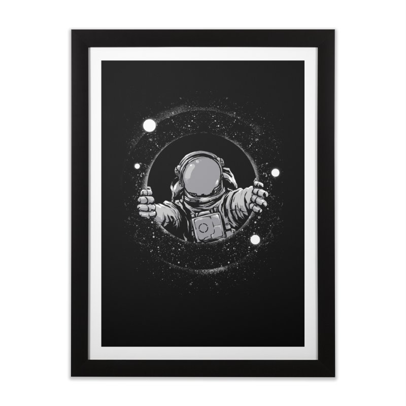 Black Hole Home Framed Fine Art Print by digitalcarbine