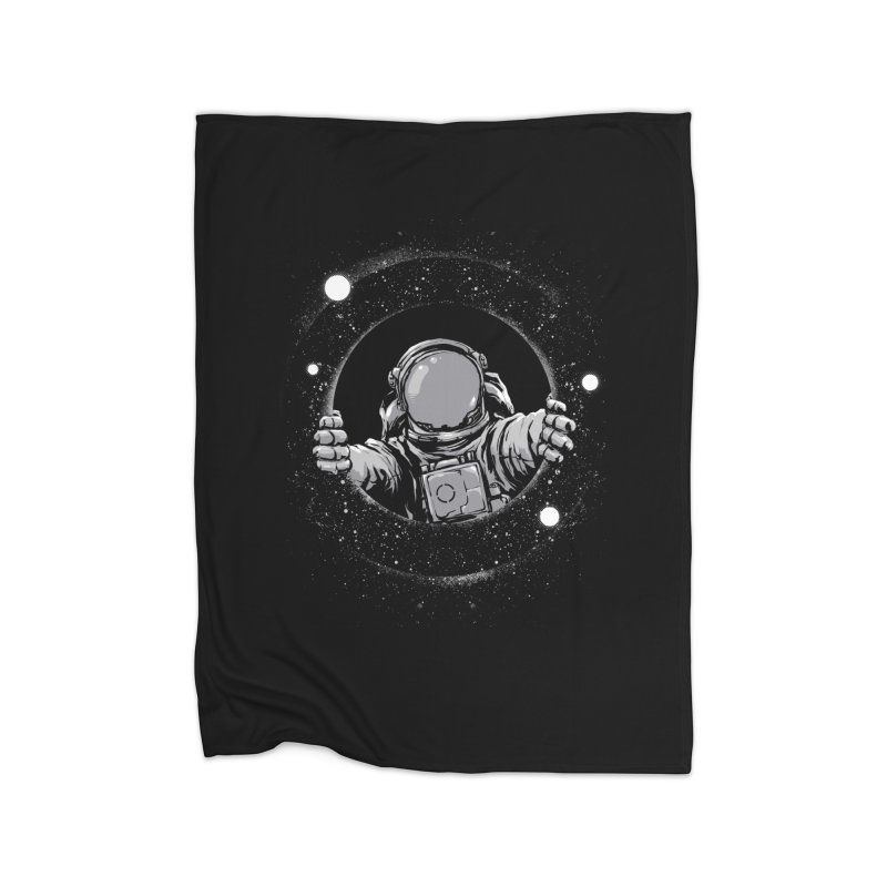 Black Hole Home Blanket by digital carbine