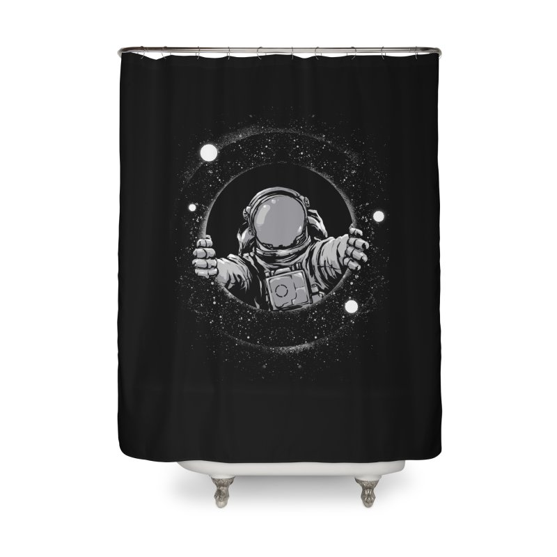 Black Hole Home Shower Curtain by digital carbine