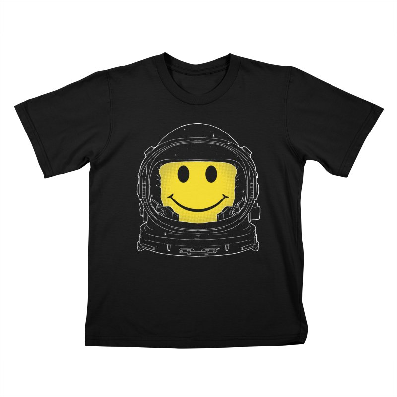 Happiness Kids T-Shirt by digital carbine
