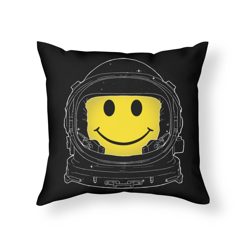 Happiness Home Throw Pillow by digital carbine