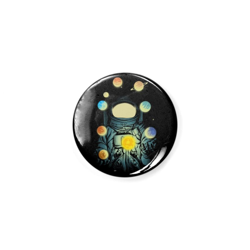 Juggling Planets Accessories Button by digital carbine