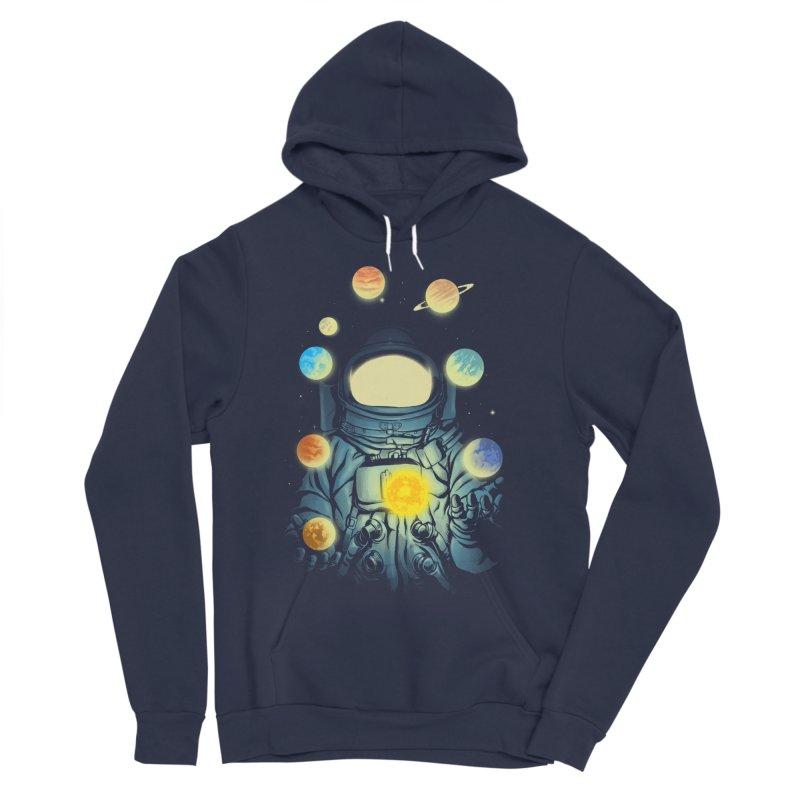 Juggling Planets Men's Sponge Fleece Pullover Hoody by digital carbine
