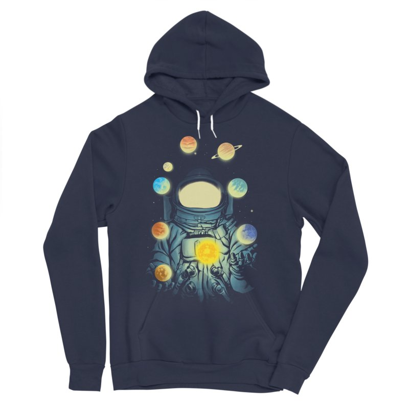 Juggling Planets Women's Sponge Fleece Pullover Hoody by digital carbine
