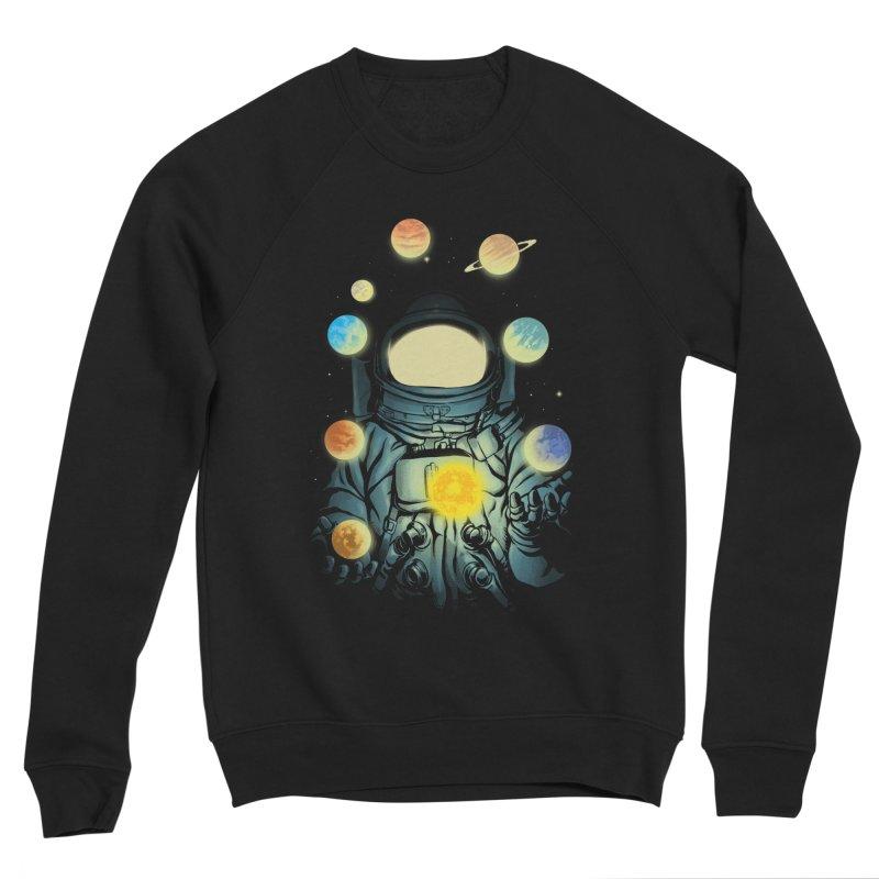 Juggling Planets Men's Sponge Fleece Sweatshirt by digital carbine