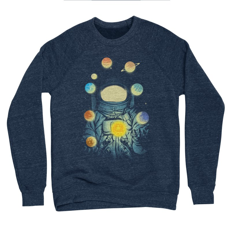 Juggling Planets Men's Sponge Fleece Sweatshirt by digital carbine