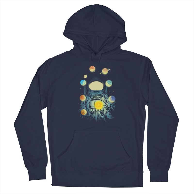 Juggling Planets Men's Pullover Hoody by digital carbine