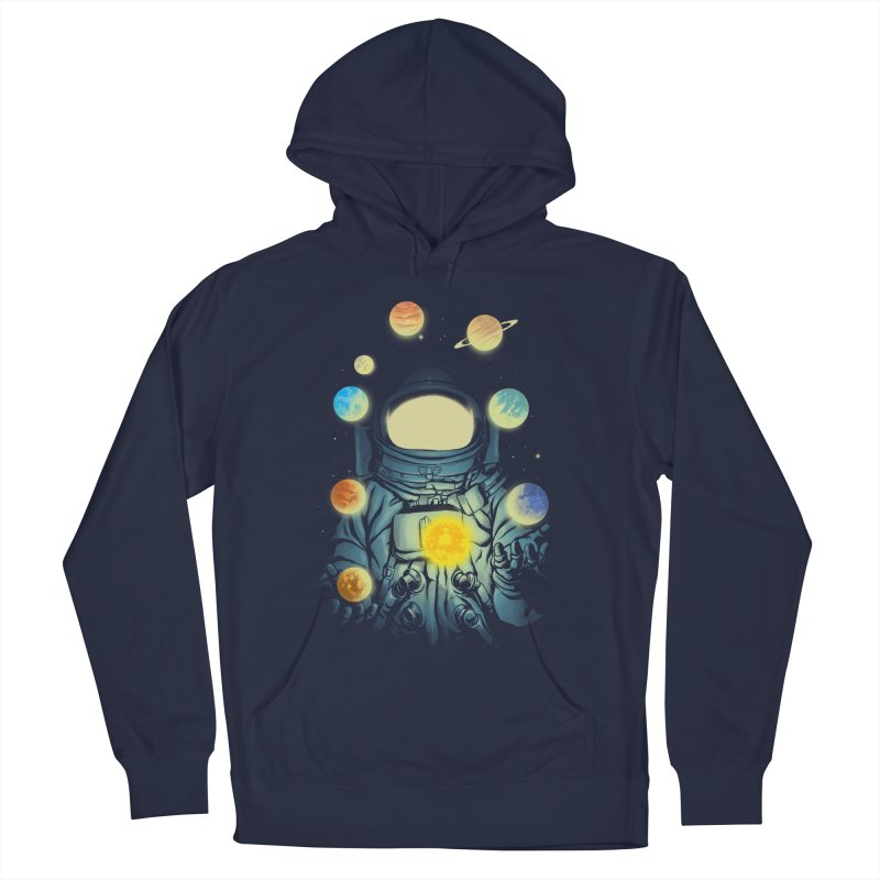 Juggling Planets Men's French Terry Pullover Hoody by digital carbine