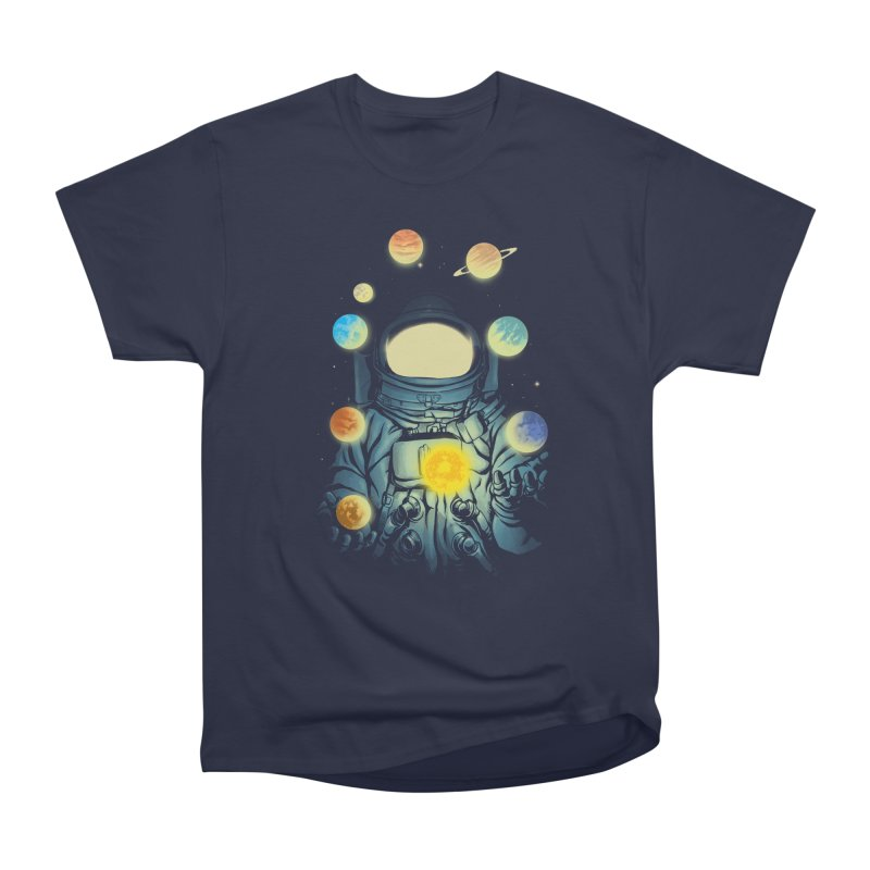 Juggling Planets Women's Heavyweight Unisex T-Shirt by digital carbine