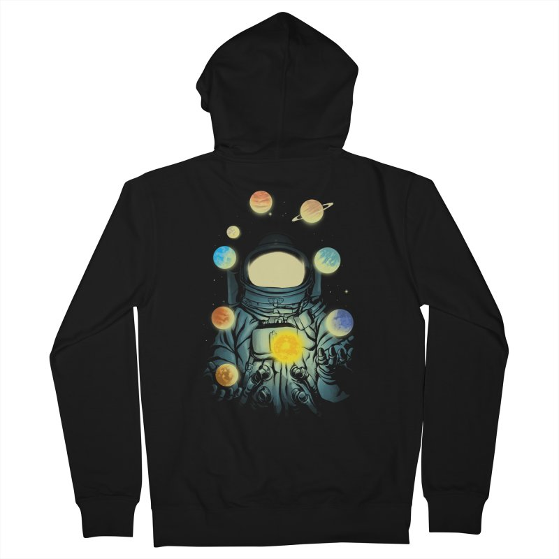 Juggling Planets Men's French Terry Zip-Up Hoody by digital carbine