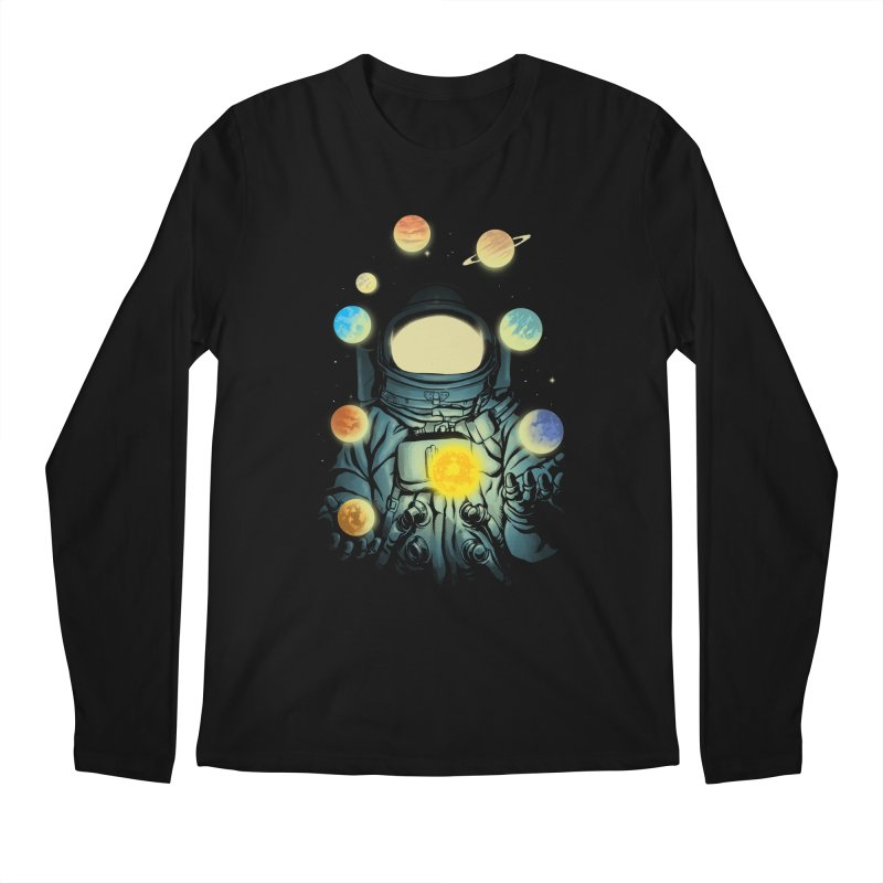 Juggling Planets Men's Regular Longsleeve T-Shirt by digital carbine