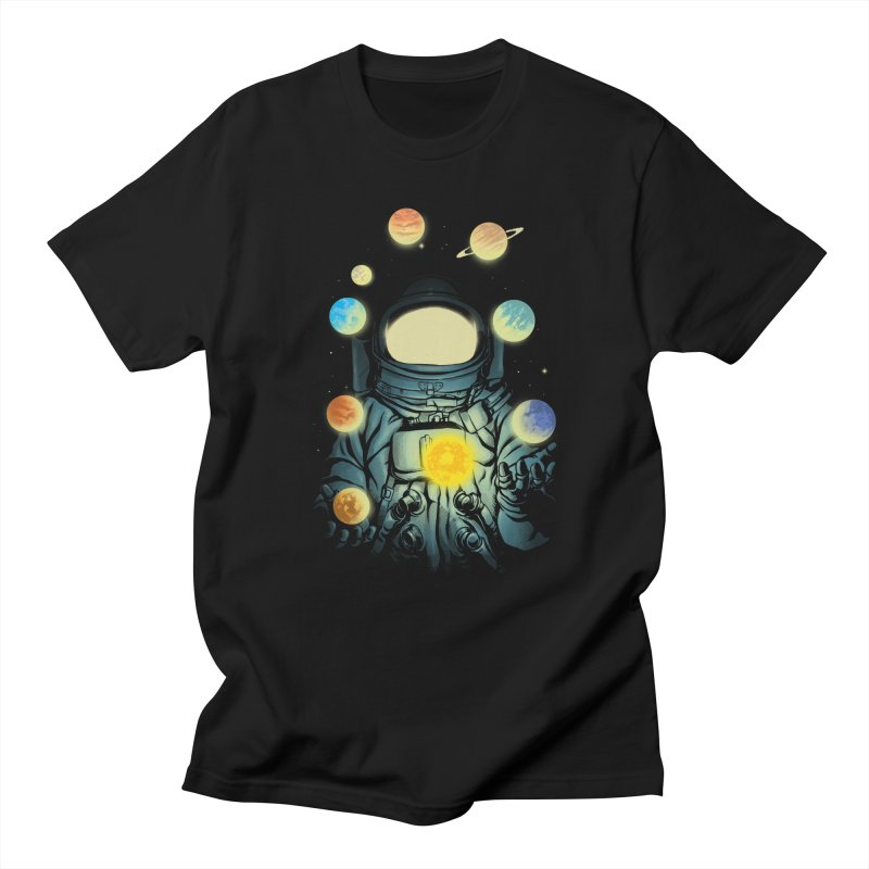 Juggling Planets Men's T-Shirt by digital carbine