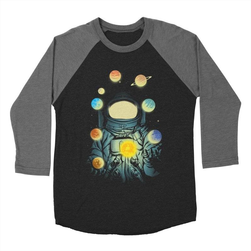 Juggling Planets Women's Baseball Triblend Longsleeve T-Shirt by digital carbine