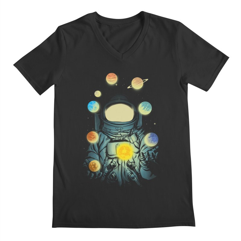 Juggling Planets Men's Regular V-Neck by digital carbine
