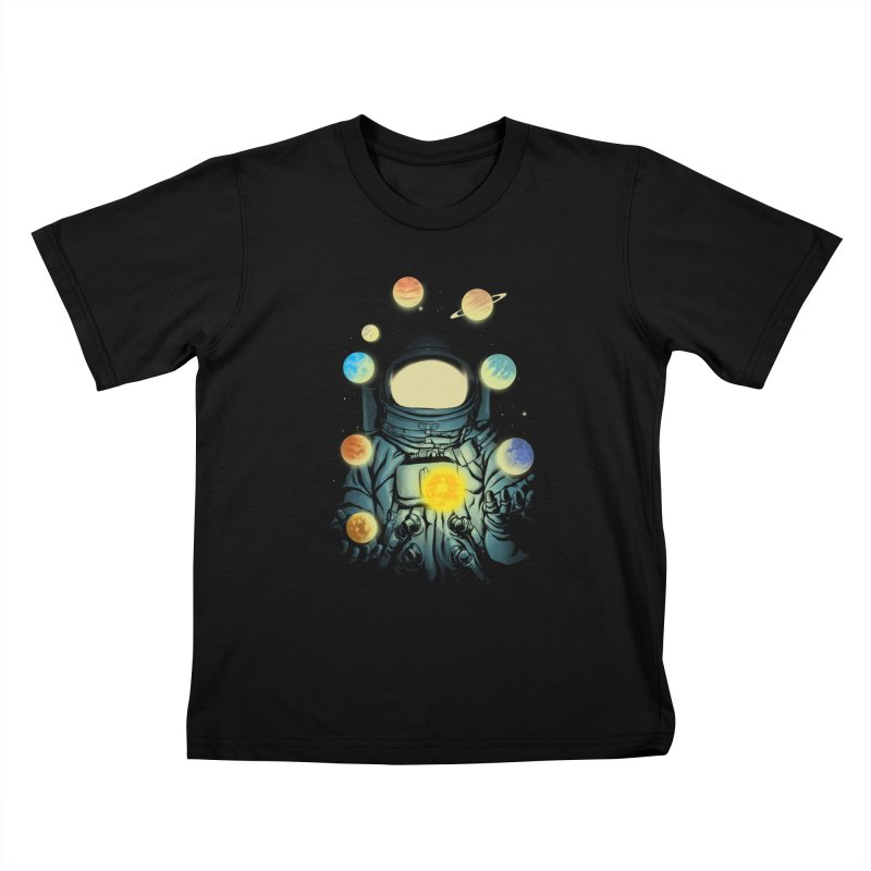 Juggling Planets Kids T-Shirt by digital carbine