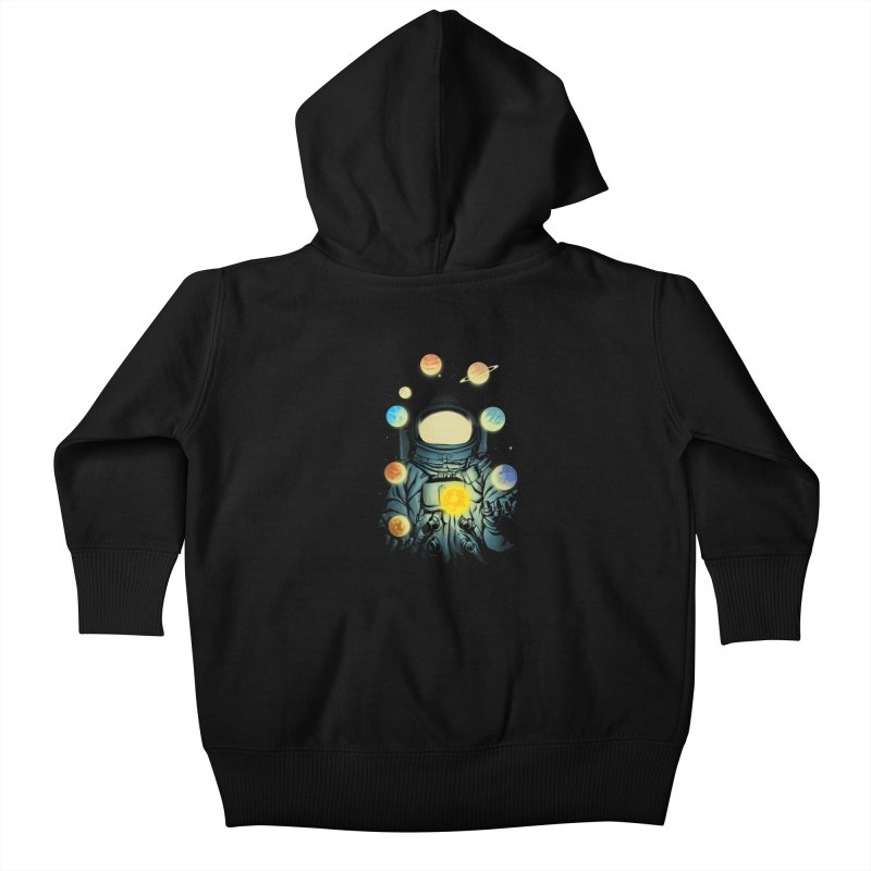 Juggling Planets Kids Baby Zip-Up Hoody by digital carbine